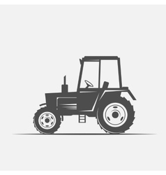 Tractor in vintage style vector