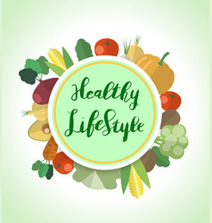 vegetables style1eps vector image