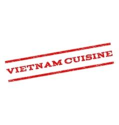 Vietnam Cuisine Watermark Stamp vector