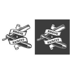 vintage barbershop label vector image