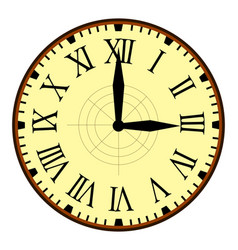 vintage clock with needles simple design vector image