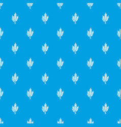 Wheat pattern seamless blue vector
