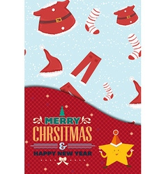 With winter elements and holiday elements vector