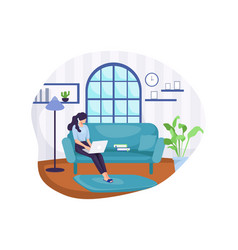 work from home vector image