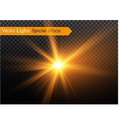 A set of lightning magic and bright light effects vector