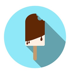 Flat design style popsicle Ice cream on a stick vector image