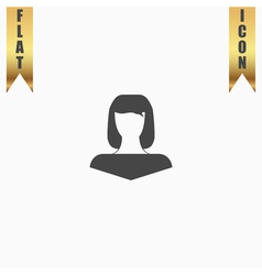 girl icon head silhouette vector image