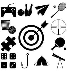 Hobby and play signs set vector image