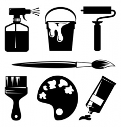 paint icons vector image