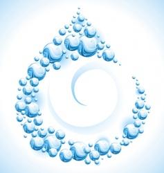 water frame drop vector image