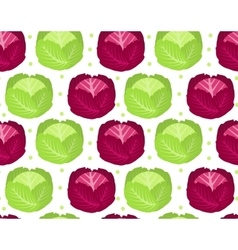 Cabbage seamless pattern red endless background vector