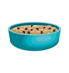Cereal plate isolated icon vector
