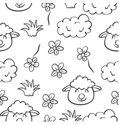 doodle of sheep hand draw style vector image