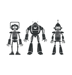 robots collection machine pictogram vector image