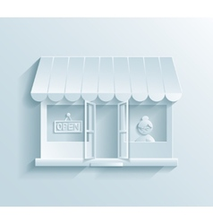 Store paper icon vector image vector image