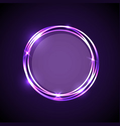 abstract background with purple neon circles vector image