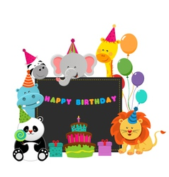 Birthday Animals vector image vector image
