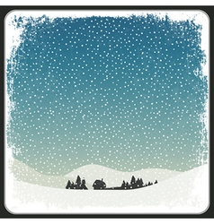 blank winter scene background vector image vector image
