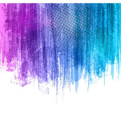 Blue Violet Paint Splashes Gradient Background vector image