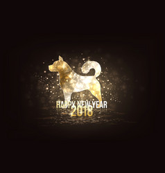 happy new year 2018 - year of dog vector image vector image