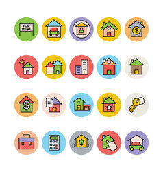 Real Estate Icons 2 vector image vector image