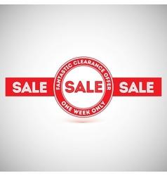 Sale offer Vintage labels design elements vector image
