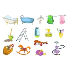Set of bath toiletries and equipment vector image vector image