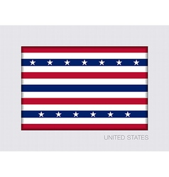 Stars and Stripes Flag Aspect Ratio 2 to 3 vector image vector image