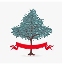 Symbol Tree and ribbon vector image vector image