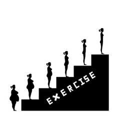 weight loss success with exercise vector image vector image