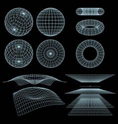geometry wireframe vector image vector image