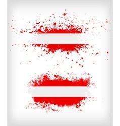 Grunge austrian ink splattered flag vector image vector image