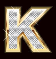 k bling bling vector image