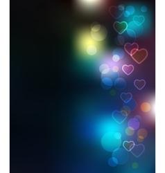 Light Bokeh Merry Christmas Background vector image