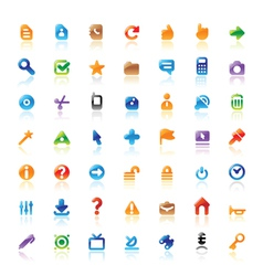 Perfect icons for interface vector image vector image