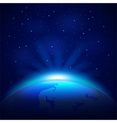 Planet Earth in space background vector image