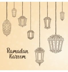 Ramadan Kareem theme vector image