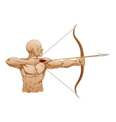 strong archer with bow and arrow vector image
