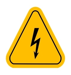 Warning icons in yellow triangle High voltage vector image vector image