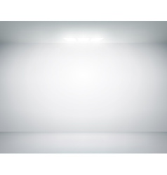 White wall on which shines a flashlight vector