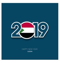 2019 sudan typography happy new year background vector