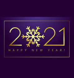 2021 new year gold snowflake fluffy vector