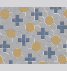3d clay brick pattern floor 10 vector image