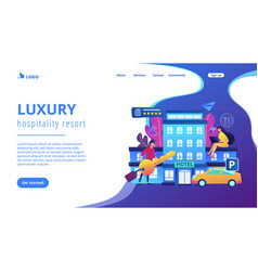 All-inclusive hotel concept landing page vector