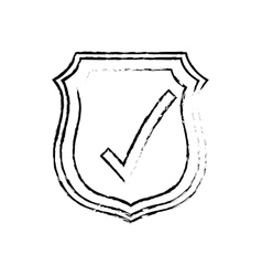 Approval check icon vector image