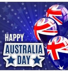 Australia Day Background National Celebration vector image