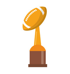 Award cup american football sport vector
