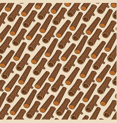 background pattern with wooden logs vector image