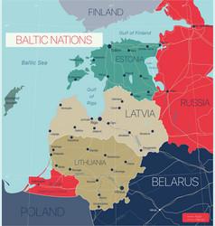 baltic nations region vector image