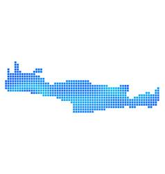 Blue dot crete island map vector